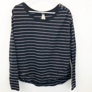 Free people We the Free Striped Black White Top